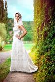 Svatební šaty cca 38, originální návrh, 38