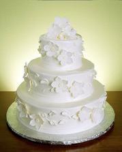 torta v bielej, takú by som chcela, ale nieviem, či sa cukrárka nebude veľmi trápiť nad tými kvetmi