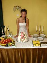 Mám rados z krásnho dortu, viděla jsem ho až na místě