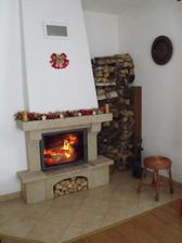 Vyzdobenej krbík -Vánoce 2010