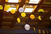 Papírová dekorace - rozety,