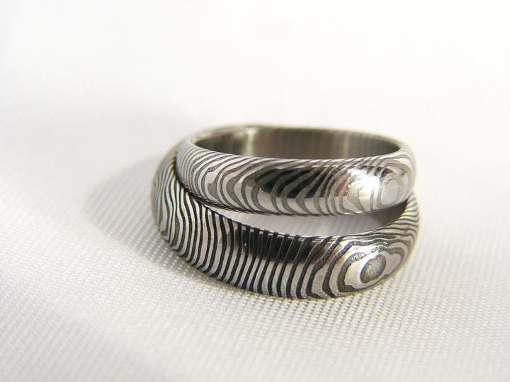 Snubní prsteny z damašské oceli -  131bbf4b2f