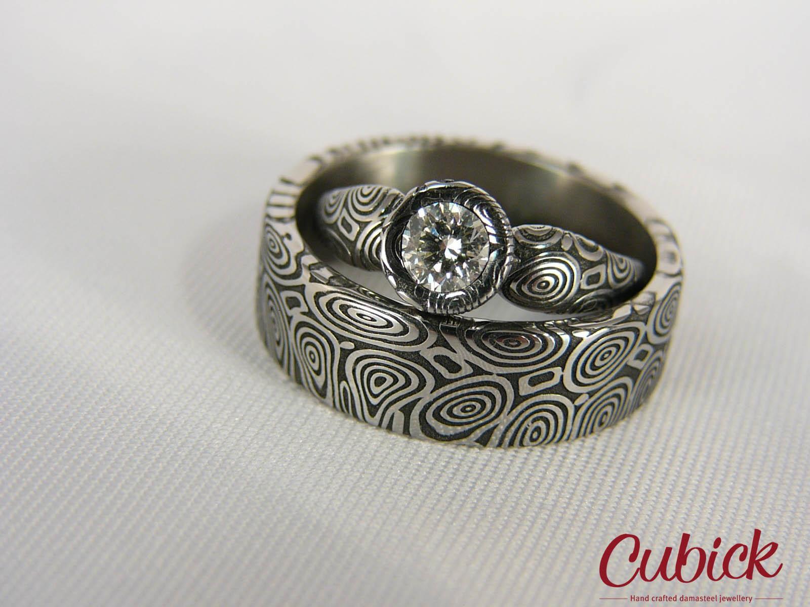 Snubní prsteny z damascénské oceli c64adff949