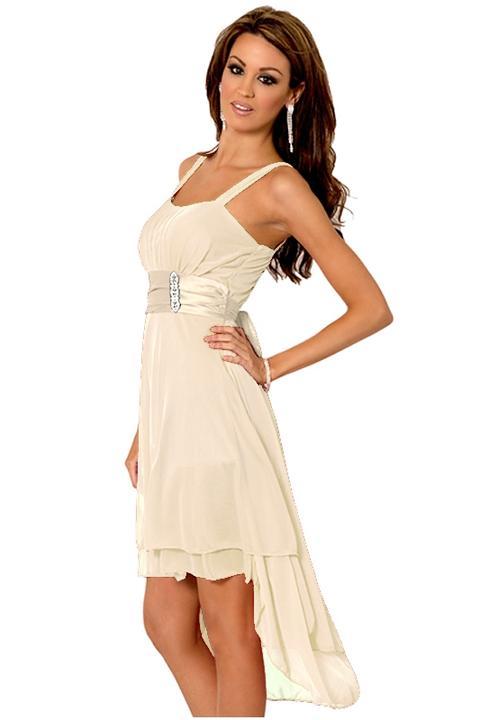 Glamor.cz - Společenské a svatební šaty z USA - Krátké krémové šaty ... 1efa7d04c6e