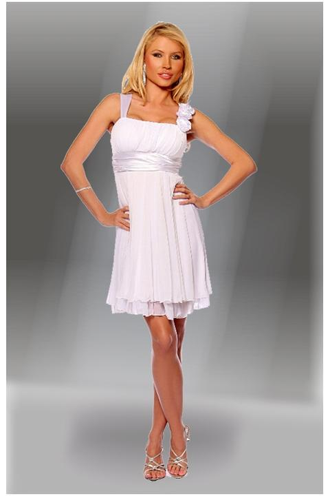 Glamor.cz - Společenské a svatební šaty z USA - Krátké bílé šaty ... 8c8587c99fa