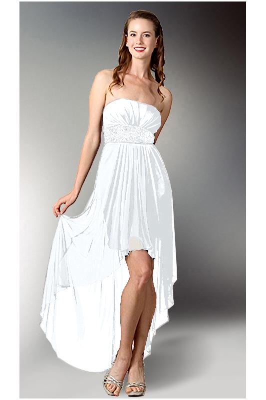 Vpředu krátké vzadu dlouhé svatební šaty - - Svat... 342b3250d4