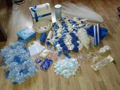 věci z modro bílé svatby,