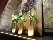 Zlaté fľaštičky ako vázy 20ks,