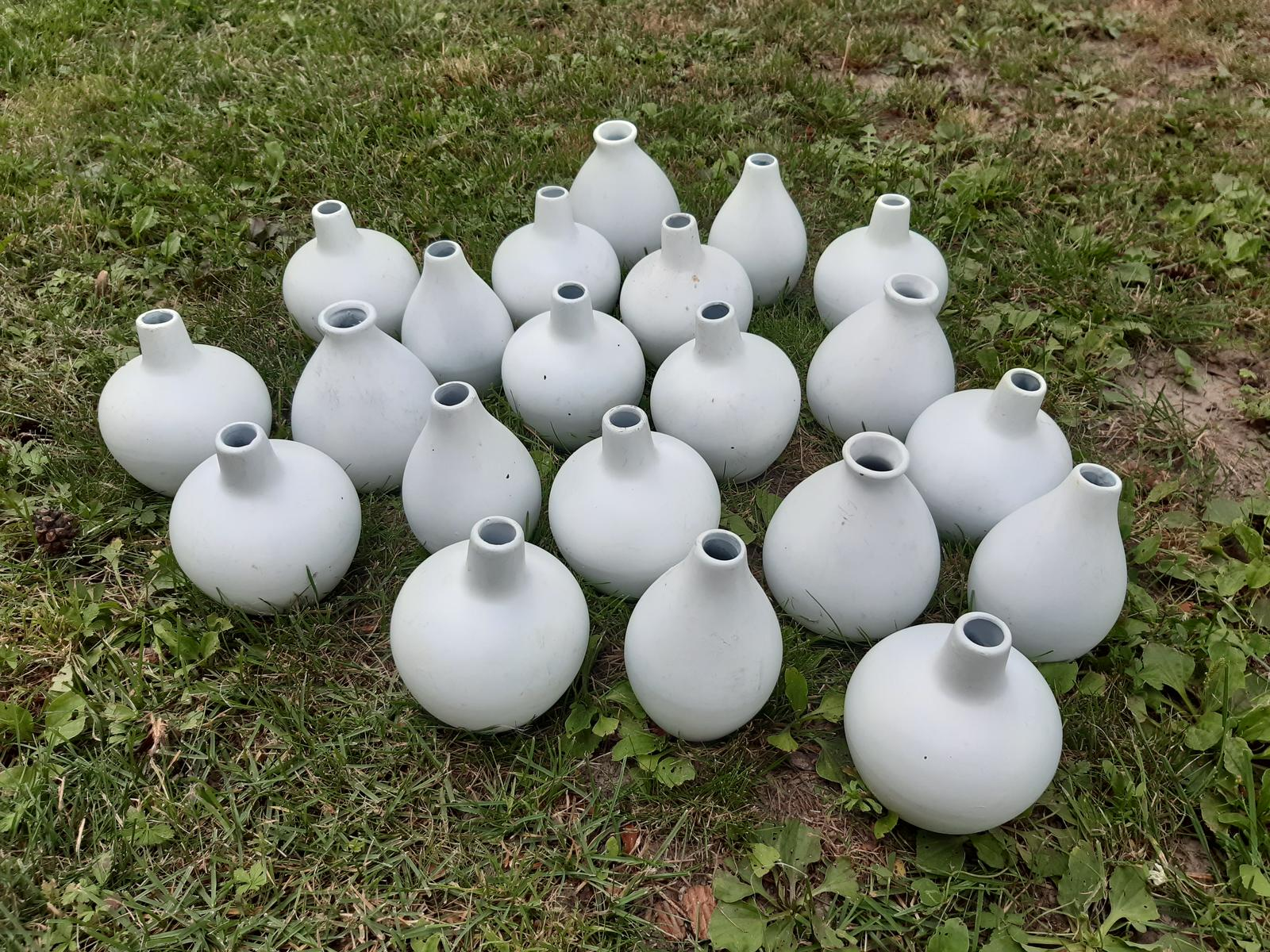 Biele keramické vázičky 20 ks - Obrázok č. 4