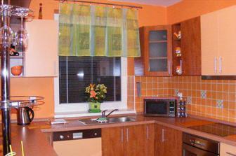 Kuchyňa s novým závesom