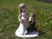 Svatební figurka na dort,
