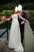 Svatební šaty česká výroba,  i pro vysoké, 38