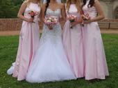 Šaty pro družičky - světle růžové 3 velikosti, 38