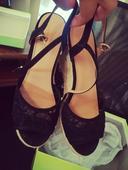 Krajkové boty na klínku, 39