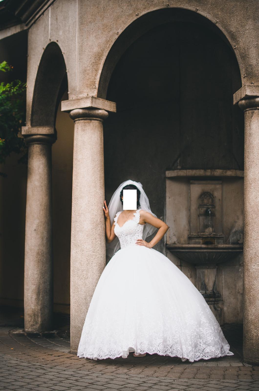 Svadobné šaty IRIAN SAM VENICE 35 veľkosť - Obrázok č. 3