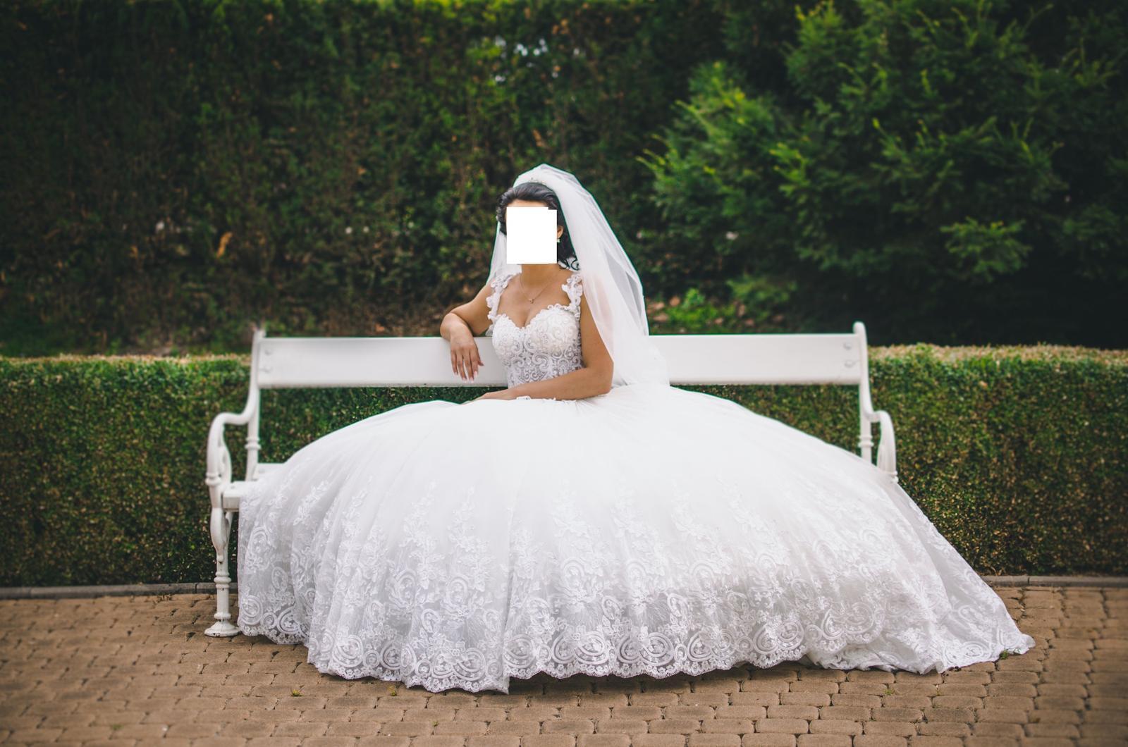 Svadobné šaty IRIAN SAM VENICE 35 veľkosť - Obrázok č. 4