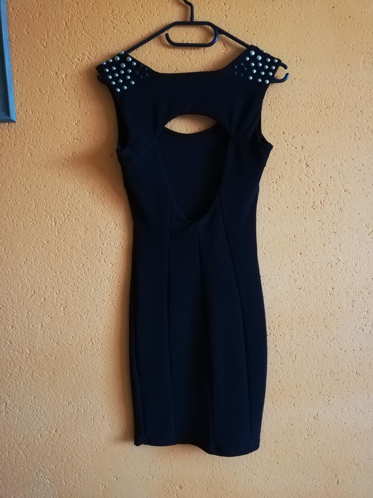 Čierne šaty 34-38 - Obrázok č. 3