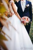 Prekrásne romantické svadobné šaty, 36