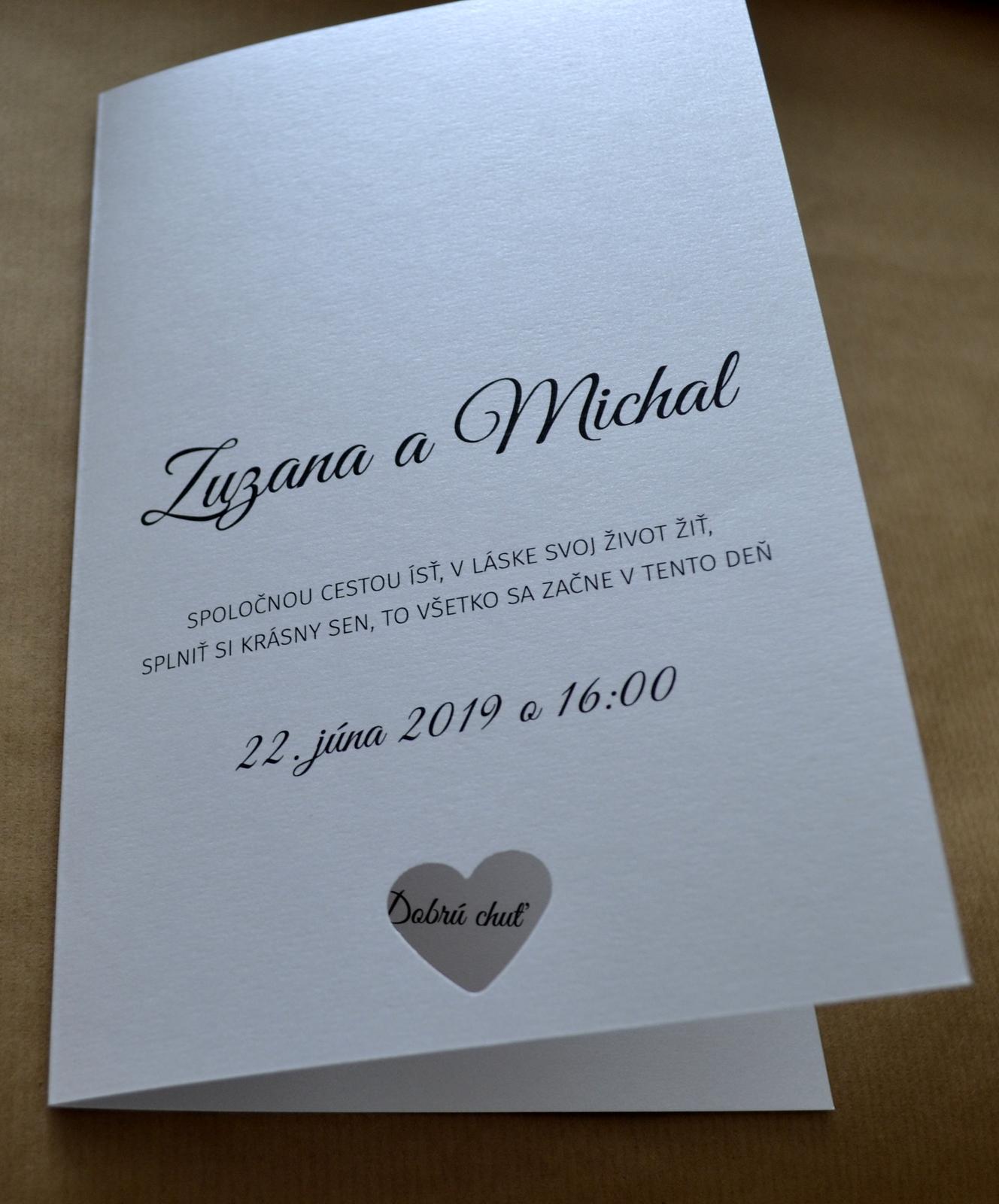 Otváracie svadobné menu z kolekcie Heart - Obrázok č. 1