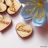 Srdíčka na vývazky LOVE 2 - font č. 4 - 50 ks,