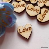 Srdíčka na vývazky LOVE - font č. 6 - 50 ks,