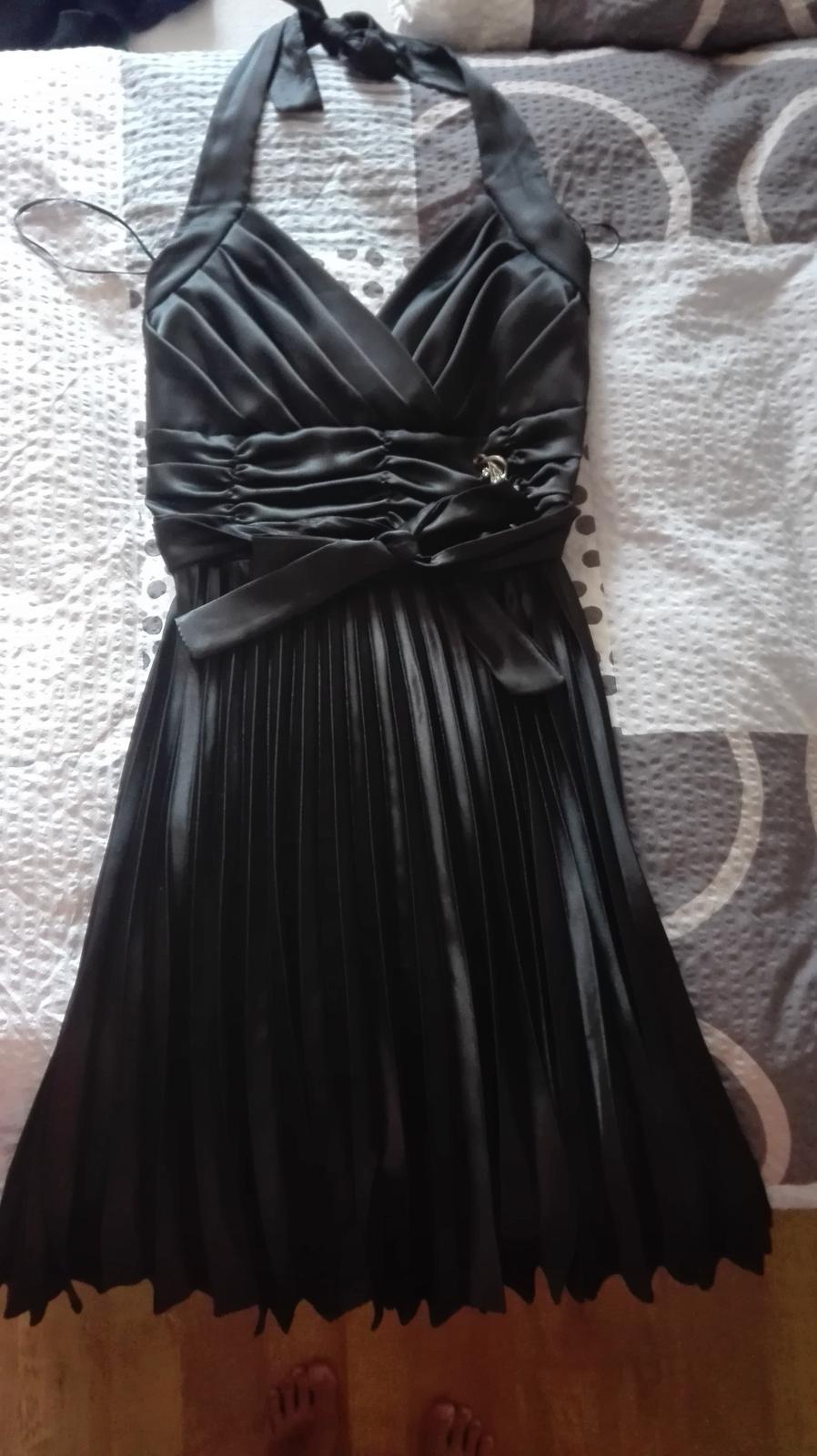Černé plesové šaty 36/38 - Obrázek č. 1