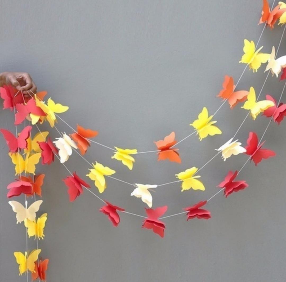 Girlanda papíroví motýlci zelení - Obrázek č. 3