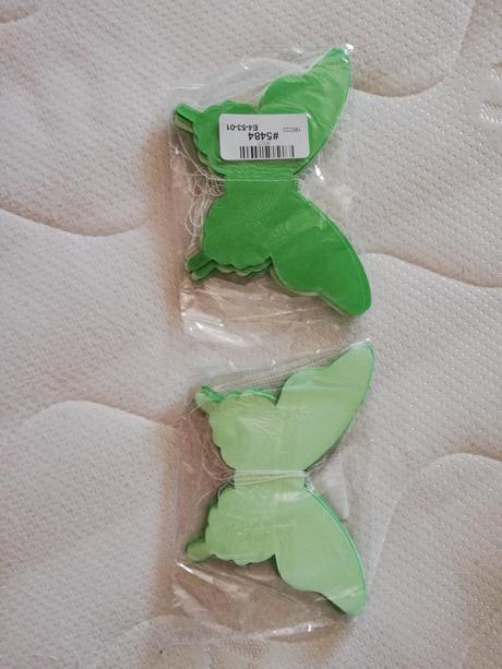 Girlanda papíroví motýlci zelení - Obrázek č. 1