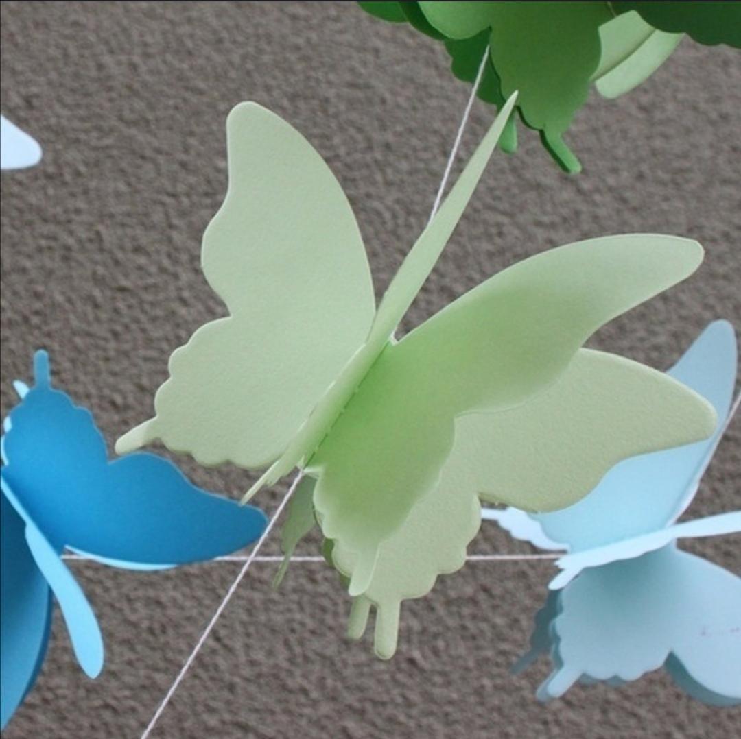 Girlanda papíroví motýlci zelení - Obrázek č. 2