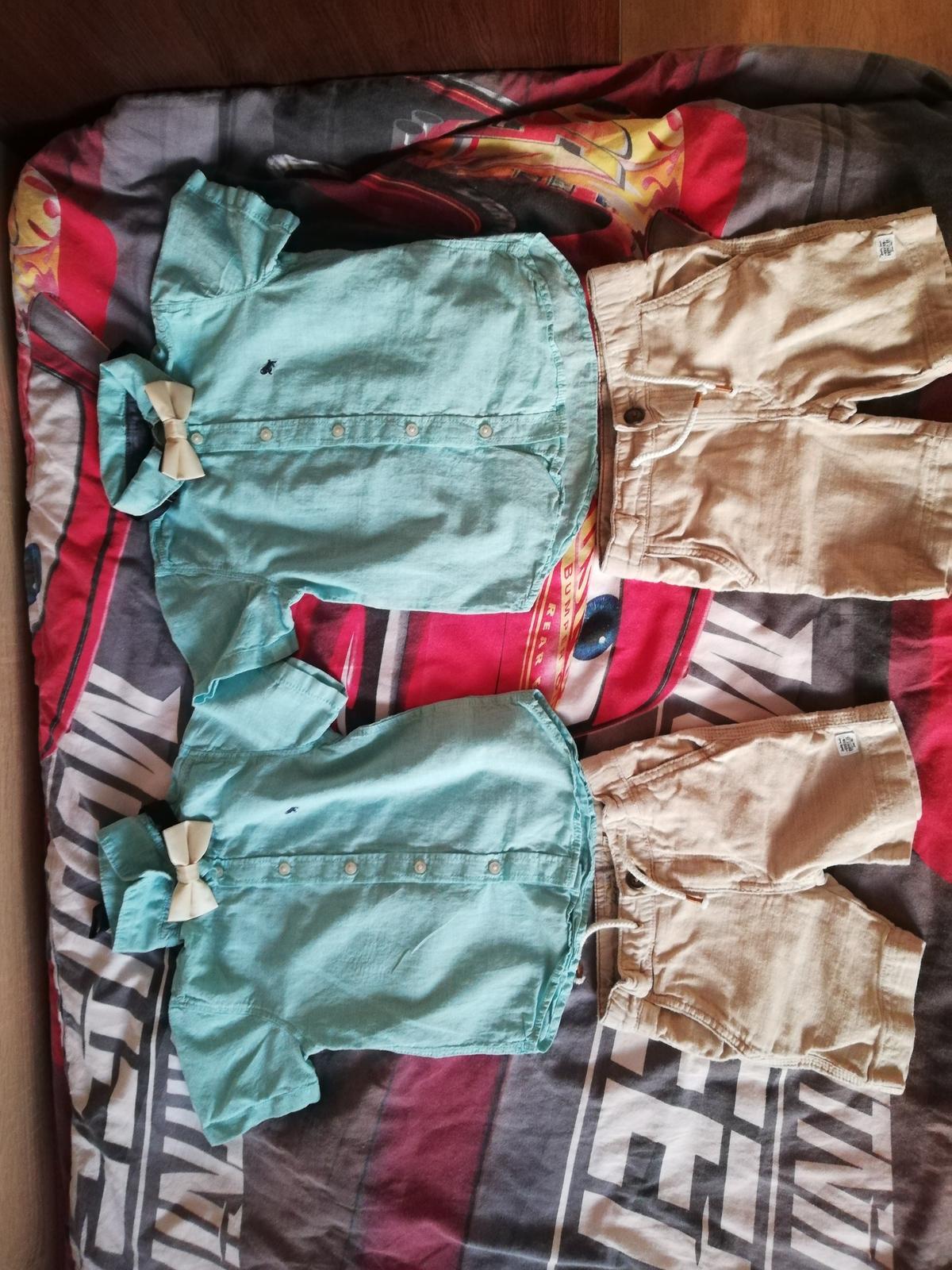 Dětská souprava šortky, košile, motýlek - Obrázek č. 1