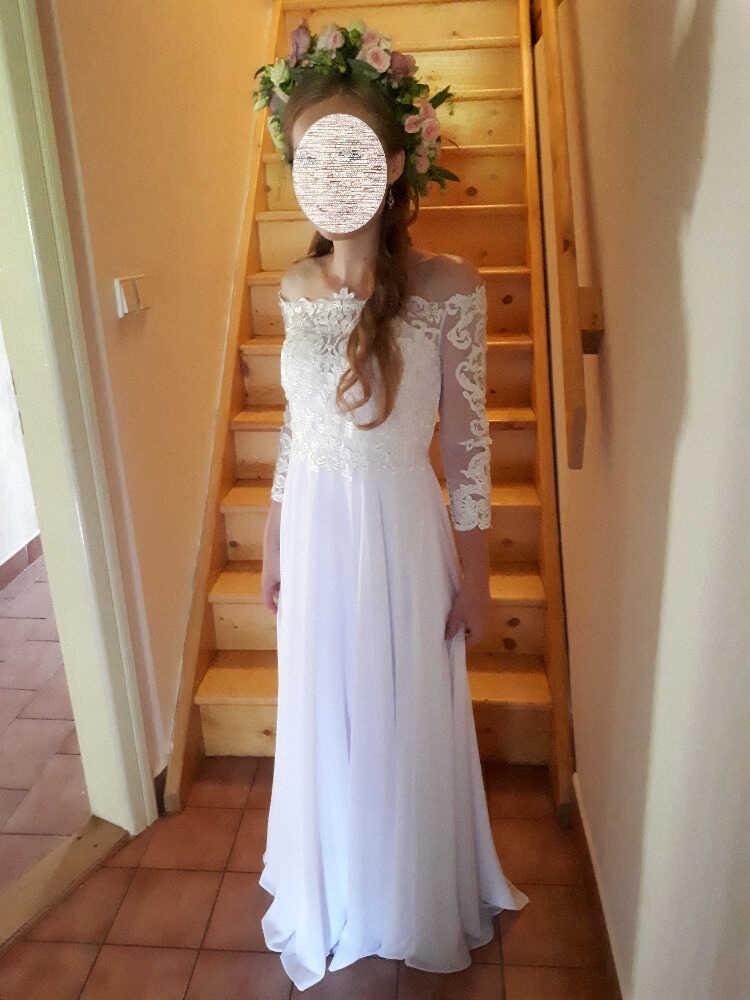 Svatební šaty v boho stylu vel. 34 - Obrázek č. 1
