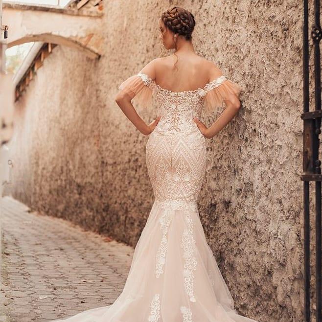 Zmyselné extravagantné iné 🤎 Svadobné šaty T E S S A - Obrázok č. 1