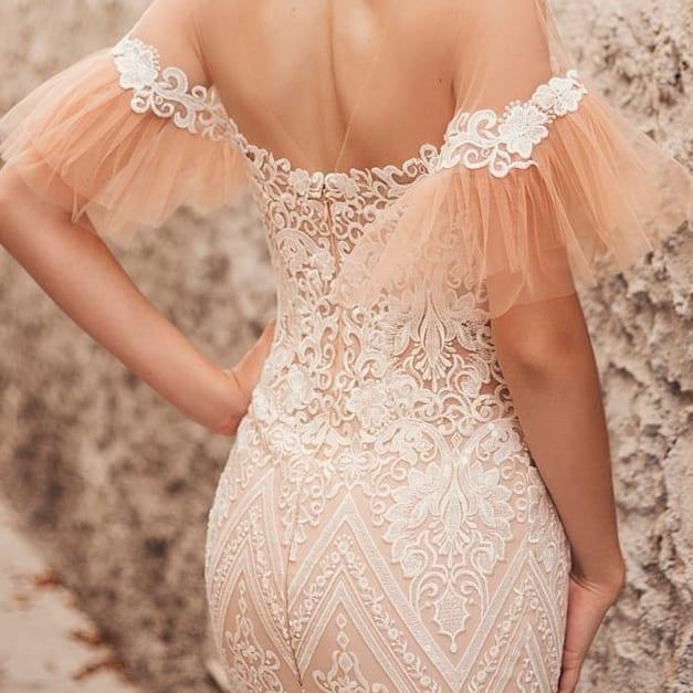 Zmyselné extravagantné iné 🤎 Svadobné šaty T E S S A - Obrázok č. 2
