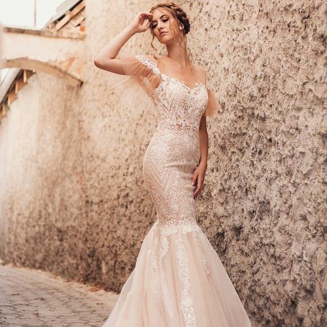 Zmyselné extravagantné iné 🤎 Svadobné šaty T E S S A - Obrázok č. 3