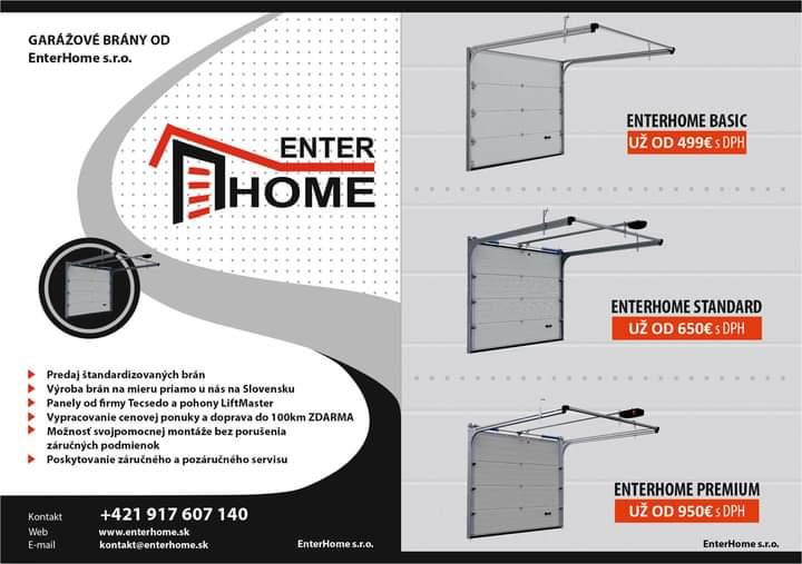 Garážové brány, garáže a záhradné domčeky od EnterHome.s.r.o - Obrázok č. 1