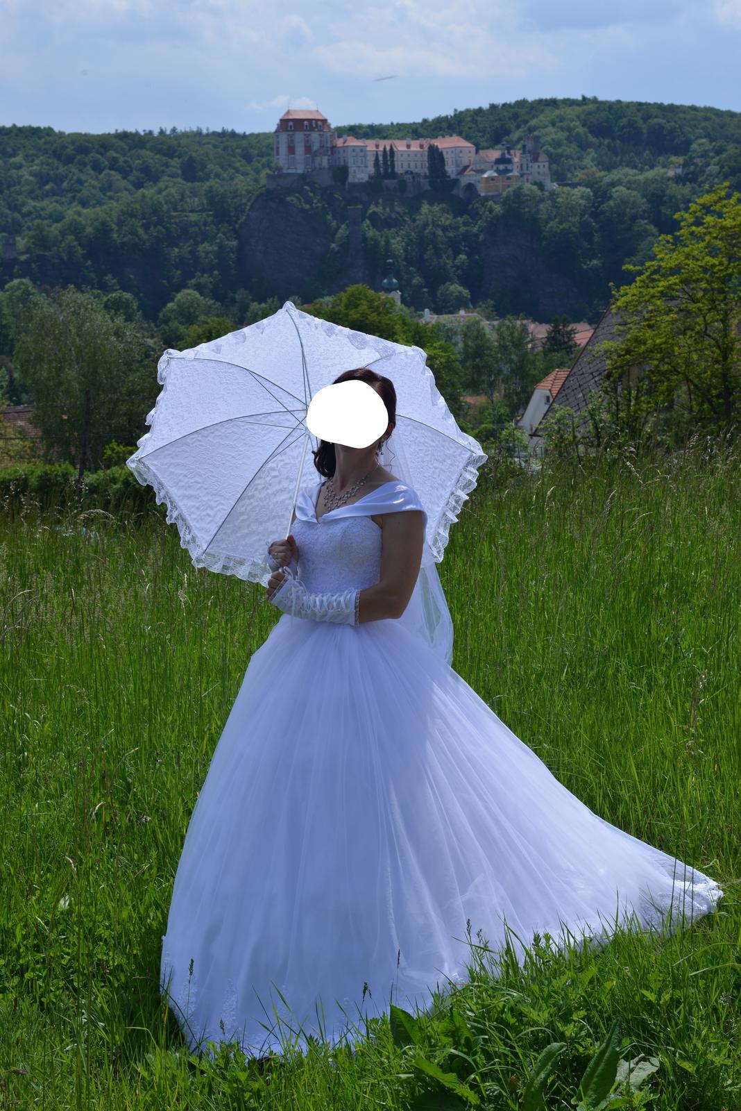 Svadobné šaty veľkosť 36 - Obrázok č. 3