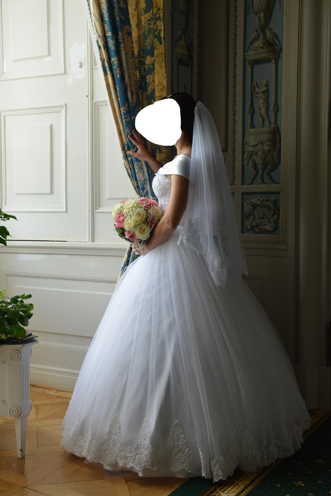 Svadobné šaty veľkosť 36 - Obrázok č. 1