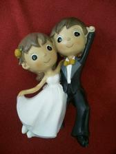 Figurka na dort - dnes zakoupeno z bazaru, jsou skvěle roztomilí :)