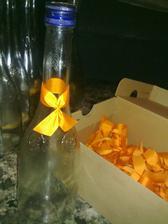 mašličky na fľaše
