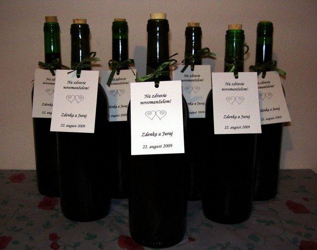 Svadobné prípravy - naše etikety na vinko