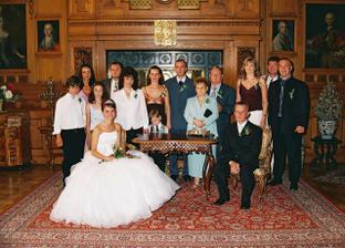 Rodinná fotka přeci nemůže chybět.