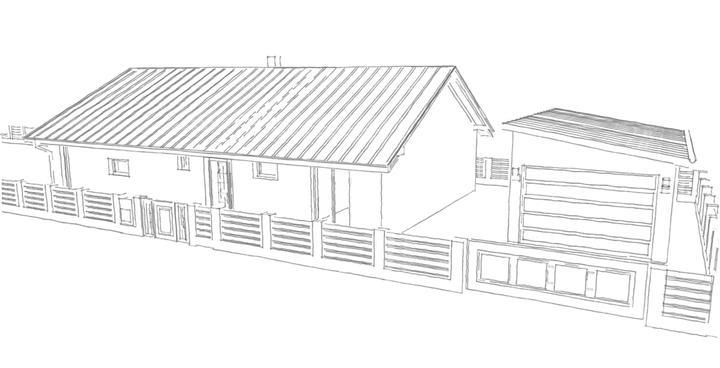 Nova koncepcia domu - moja kresba naseho domceka ako to bude vyzerat po dokonceni