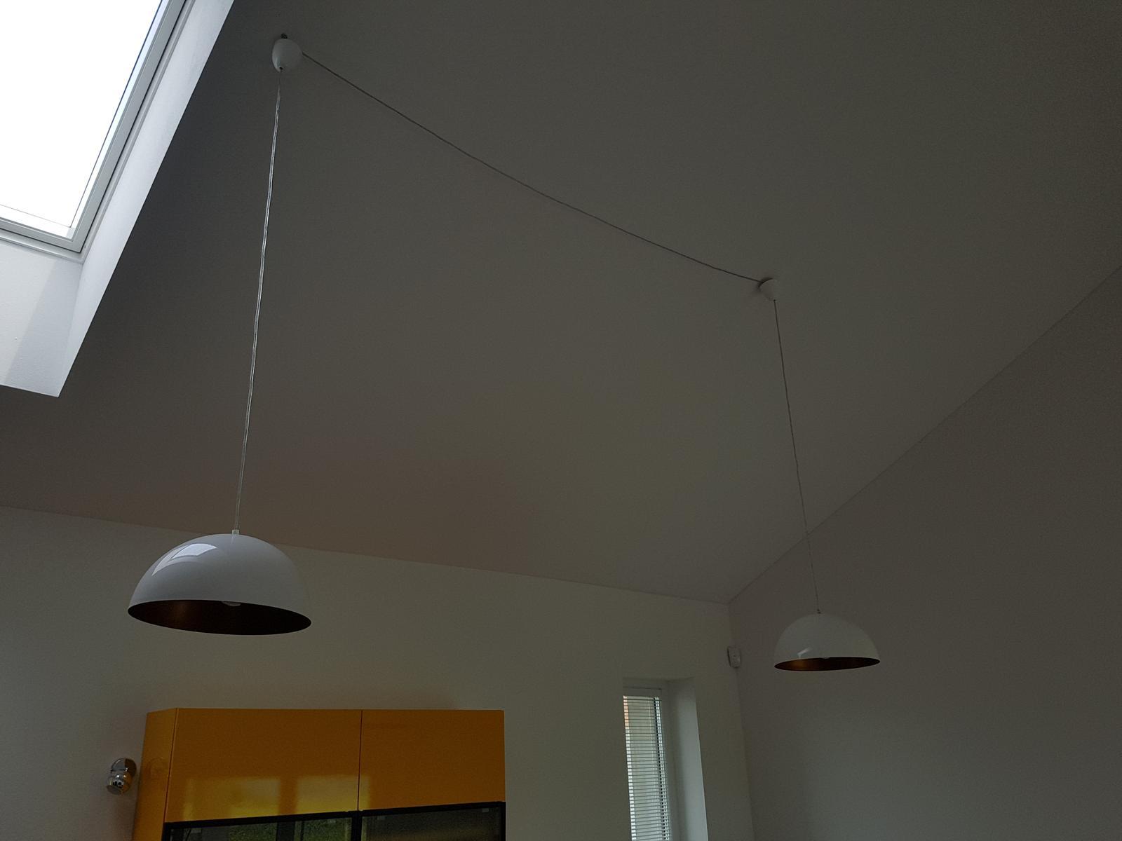 Dokoncovacie prace pred nastahovanim - zavesene svetla