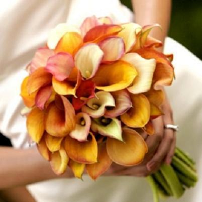 Svadobné kytice z kál - Obrázok č. 33