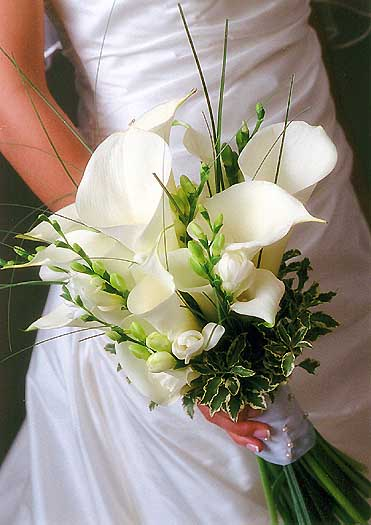 Svadobné kytice z kál - Obrázok č. 37