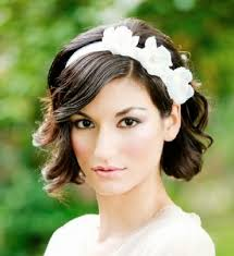 Svadobné účesy pre krátke vlasy