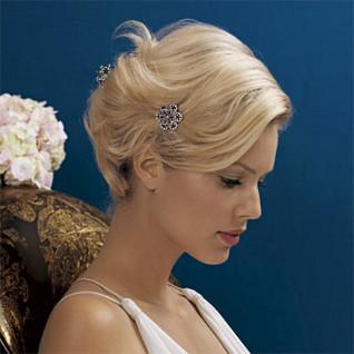 Svadobné účesy pre krátke vlasy - Obrázok č. 4