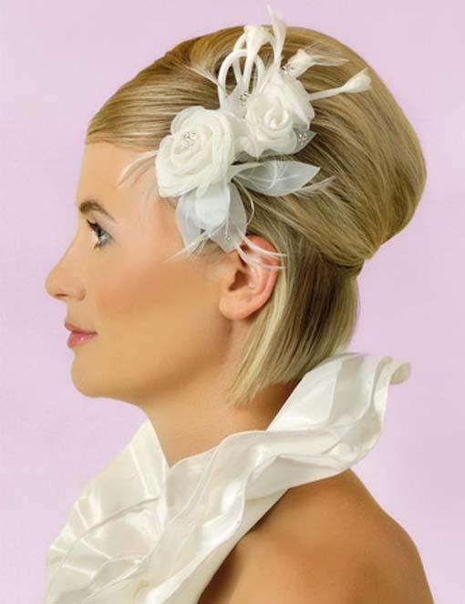 Svadobné účesy pre krátke vlasy - Obrázok č. 19