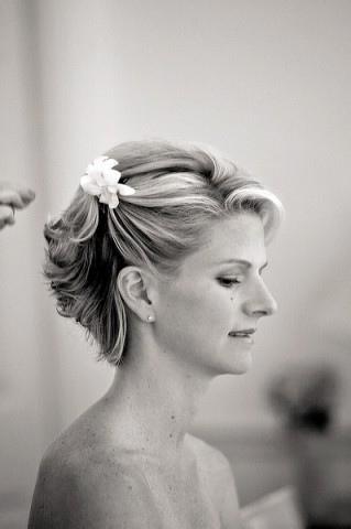 Svadobné účesy pre krátke vlasy - Obrázok č. 21