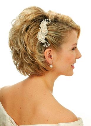 Svadobné účesy pre krátke vlasy - Obrázok č. 26